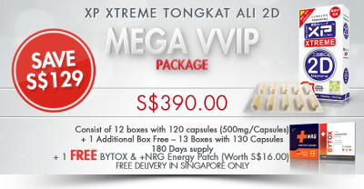 XP Xtreme Tongkat Ali 2D MegaVVIP Package